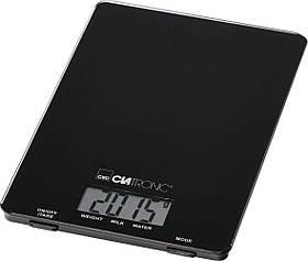 Электронные кухонные весы CLATRONIC KW 3626, функция тарирования, ЖК-дисплей, до 5 кг черный