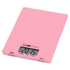 Электронные кухонные весы CLATRONIC KW 3626, функция тарирования, ЖК-дисплей, до 5 кг,  Pink