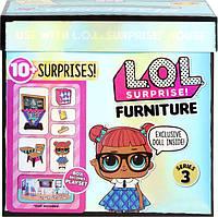 Ігровий набір для дівчинки з лялькою L. O. L. SURPRISE! серії «Furniture S2» - Клас Розумниці., фото 1