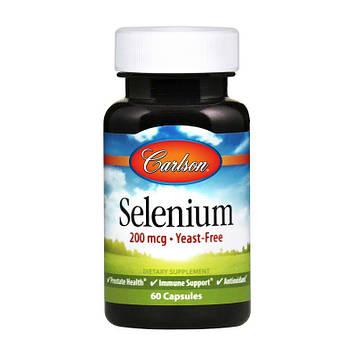 Селен Carlson Labs Selenium 200 mcg (60 caps)