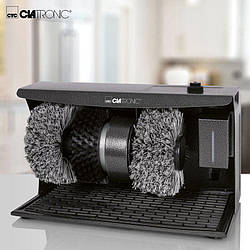 Аппарат для чистки обуви CLATRONIC SPM 3754 с дозатором крема, чистка и полировка обуви