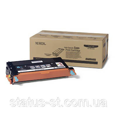 Заправка картриджа Xerox 113R00723 для принтера Phaser 6180 MFP cyan + девелопр, фото 2