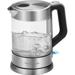 Электрический чайник PROFICOOK PC-WKS 1107 из стекла с подсветкой, вращение  360°, 1.5л, 2200Вт