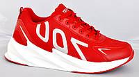 Кроссовки демисезонные из Pu-кожи в стиле Yeezy Boost 700, красные. Размеры 41, 42, 43, 44, 45.