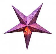 """Светильник картонный Звезда пятилучевая """"Purple Paisley Embd."""""""