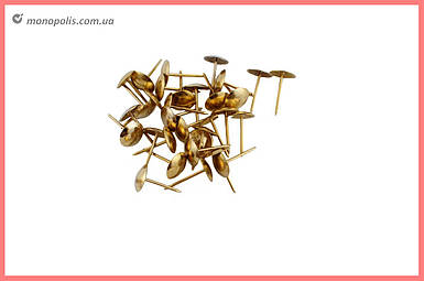 Гвозди мебельные FZB - гладкие РВ (золото)