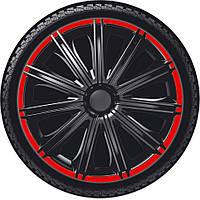 Колпаки на колеса R14, Р14 NERO R черные с красным ободком