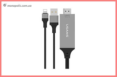 Кабель Lightning+USB+HDMI Usams - US-SJ131 2 м Black