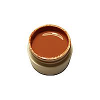 Гель-краска для ногтей Gel Color коричневая с липким слоем