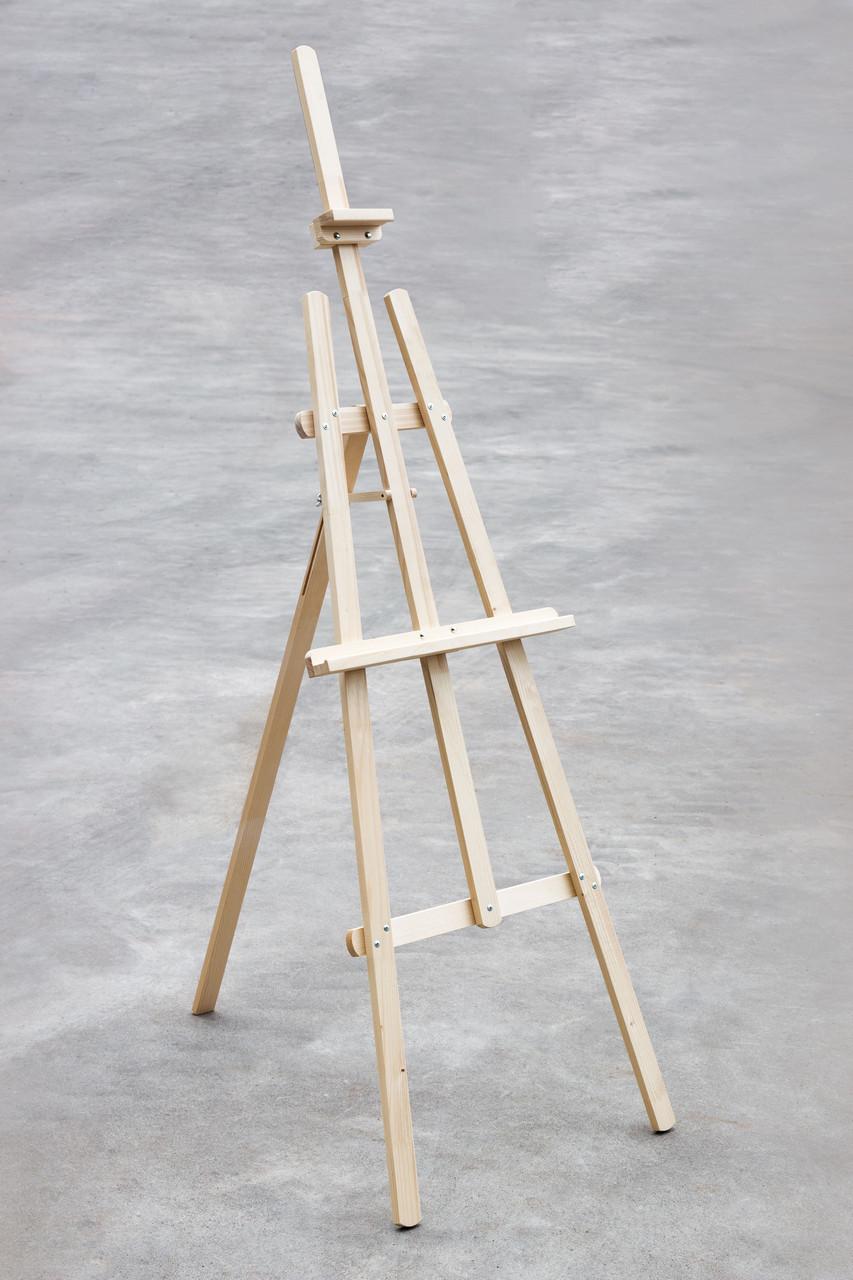 Мольберт стаціонарний художній для малювання 178 х 58 х 40 см Energy Wood №47 дерево сосна