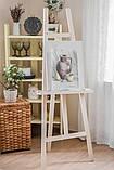 Мольберт тренога деревянный художественный для рисования 157 х 59 х 40 см Energy Wood №40 дерево сосна, фото 7