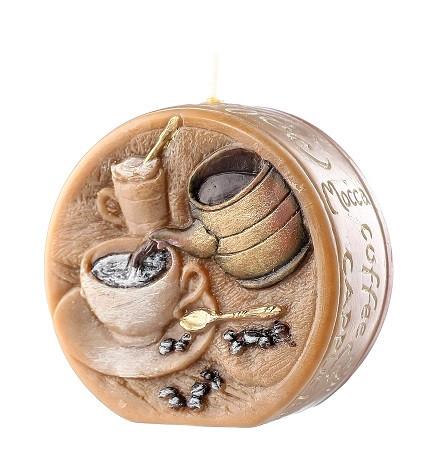 Свеча диск подарочная кофе 9.5 см