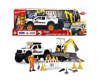 Игровой набор Dickie Toys PlayLife Ремонт дороги с экскаватором, 3838004