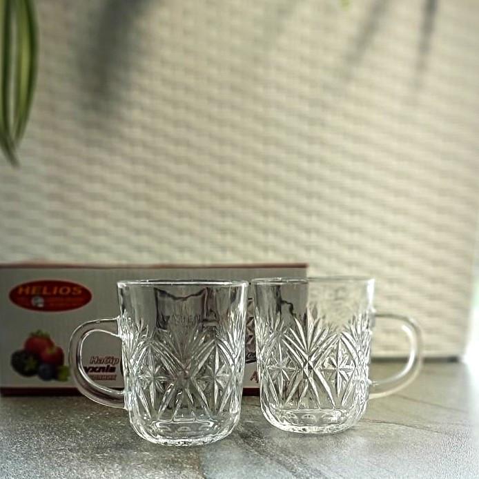 Набор стеклянных чашек HLS 220 мл*6 шт (6231)