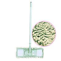 Швабра с телескопической ручкой и насадкой 90-130 см оливковая