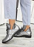Кожаные ботинки Аврелия никель 7535-28, фото 2