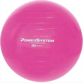 Мяч для фитнеса и гимнастики фитбол Power System PS-4012 Pro Gymball 65 cm розовый