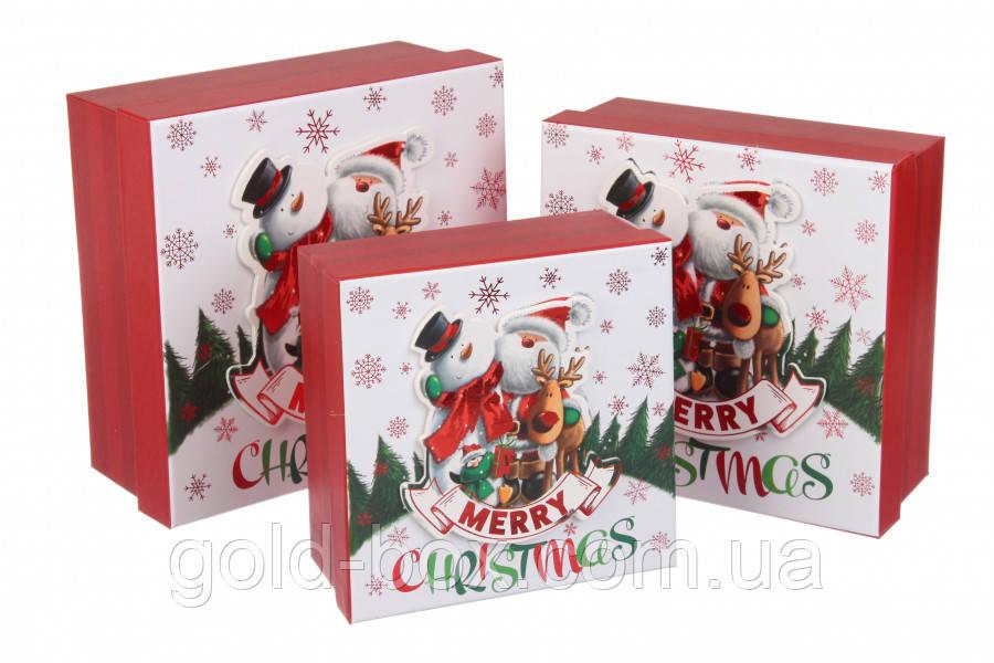 Новогодняя подарочная коробочка 3 в 1