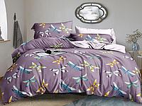 """Семейное постельное белье евро-размер с двумя пододеяльниками (14991) хлопок """"Ранфорс"""""""