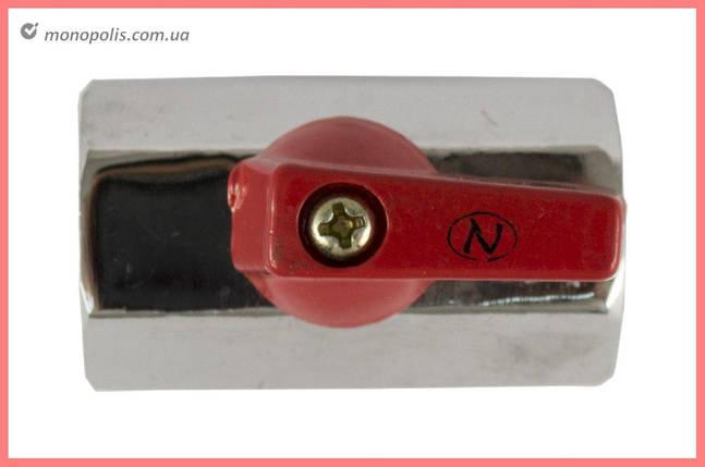 """Кран шаровый никель Никифоров - 1/2""""В x 1/2""""В мини, фото 2"""