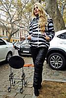 """Тёплый женский спортивный костюм на синтепоне + мех 9030 """"Зебра"""""""