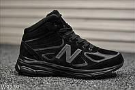 """Зимние кроссовки на меху New Balance 990 Winter """"Black"""" - """"Черные"""" (Копия ААА+), фото 1"""