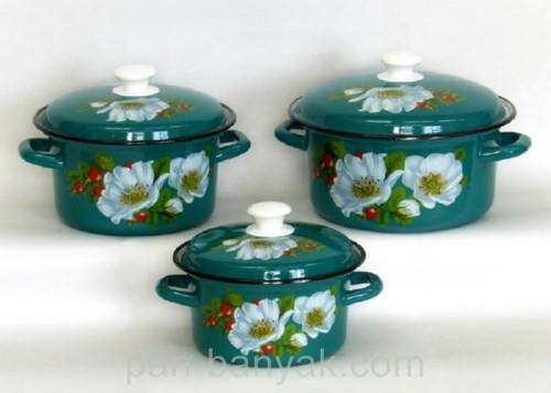 Набор посуды Керчь Конические 6 предметов емаль (Маричка-1)