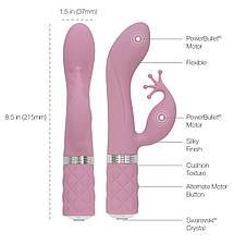 Роскошный вибратор-кролик Pillow Talk - Kinky Pink с кристаллом Сваровски, мощный, фото 2