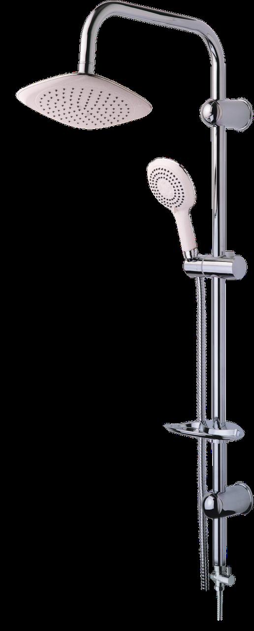 Душевая стойка с тропическим душем NOVA, белая, лейка с режимами, Venedik 8087N