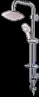 Душевая стойка с тропическим душем NOVA, белая, лейка с режимами, Venedik 8087N, фото 1