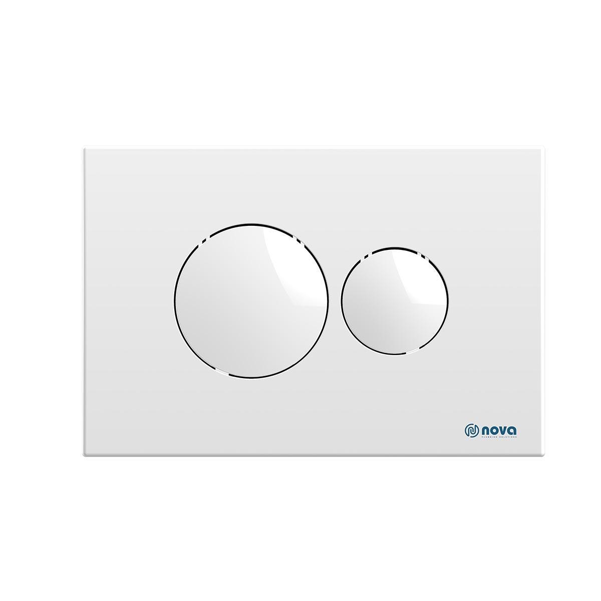 Кнопка для инсталляции NOVA круглая белая 7310N
