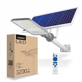 Консольный Автономный LED фонарь на солнечной батарее VIDEX 40W IP65