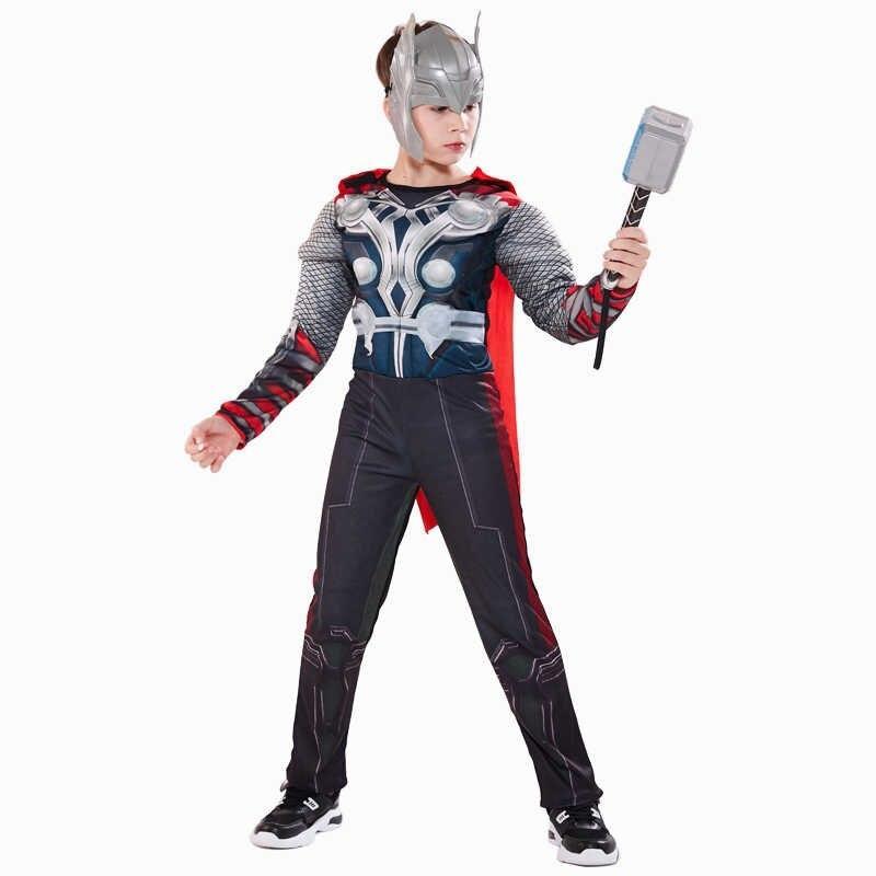 Праздничный костюм Тора со светящейся маской и молотом - Thor, Avengers, Endgame, Superhero, Disney