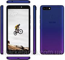Смартфон со сканером отпечатка пальца синий на 2 sim Tecno POP2F (B1f) 1/16Gb DS Dawn Blue UA UCRF