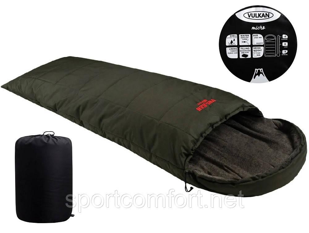 Спальный мешок Vulkan Micro меланж хаки