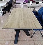 Стол обеденный раскладной TML- 810 стеклокерамика вествуд 160/240*90 (бесплатная доставка), фото 4