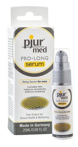 Пролонгирующий гель pjur MED Prolong Serum 20мл, создает невидимую пленку снижающую чувствительность, фото 2