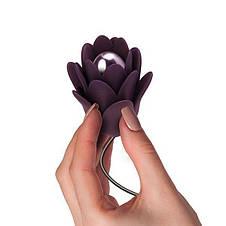 Нежный вибростимулятор цветок Rocks Off - Zinnia, нежные лепестки, фото 3