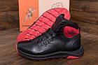 Зимние кроссовки мужские на меху | Мужские зимние кожаные кроссовки Jordan Black leather | Кроссовки теплые, фото 5