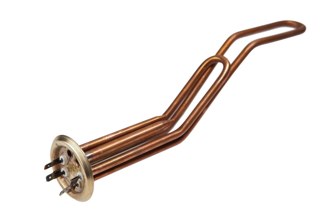 Элемент нагревательный Tenko 1,3+0,7 кВт, медь, гнутый, с трубками под 2 т/д, под анод М4