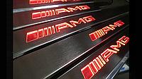 Тюнинг Mercedes G-Class накладки на пороги с подсветкой AMG
