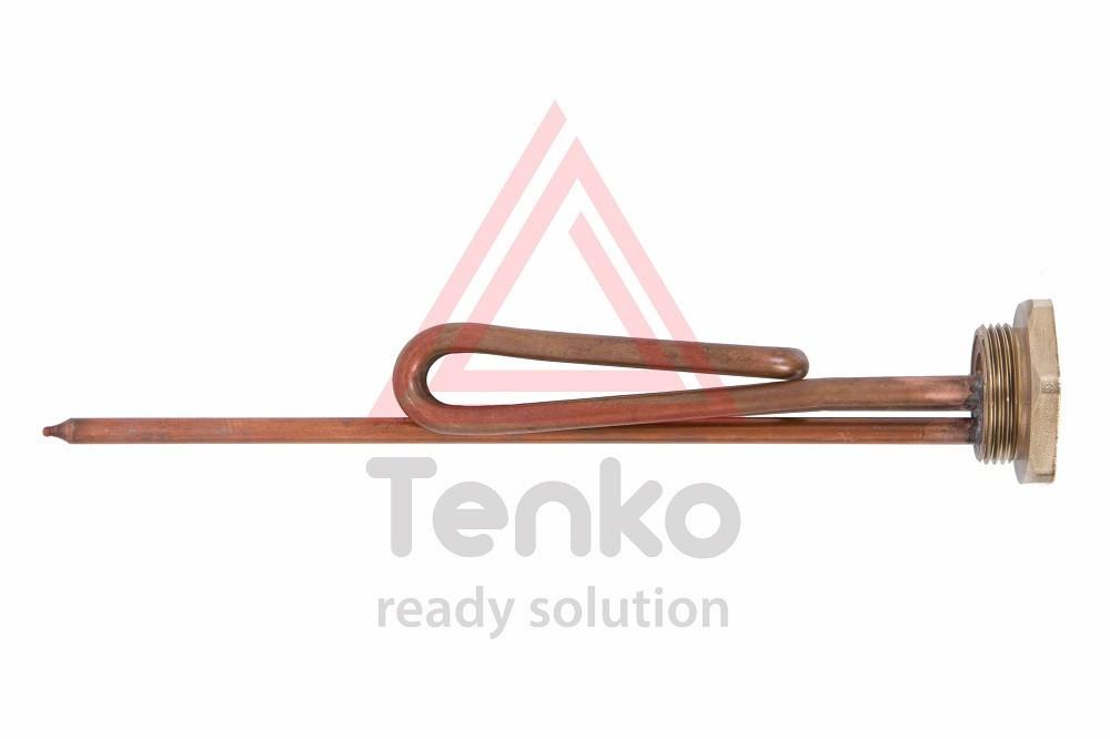 Элемент нагревательный Tenko 1,5 кВт, гнутый, под анод М6, медь