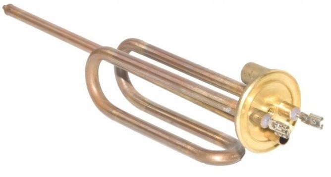 Элемент нагревательный Tenko 1,5 кВт, фланец, гнутый, длинная ножка, под анод М6