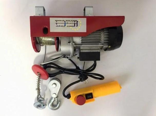 Тельфер электрический 150/300кг. EURO CRAFT HJ 202 1,6 кВт 12/6м