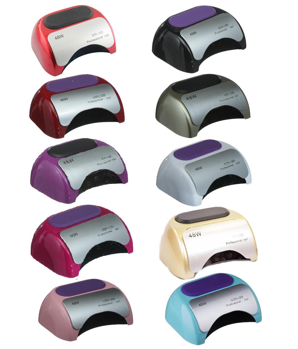 УФ лампа для нігтів гібридна LED CCFL 48 Вт для гель-лаків і гелю