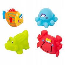 Игрушки для купания Akuku морские животные  (набор 4шт.)