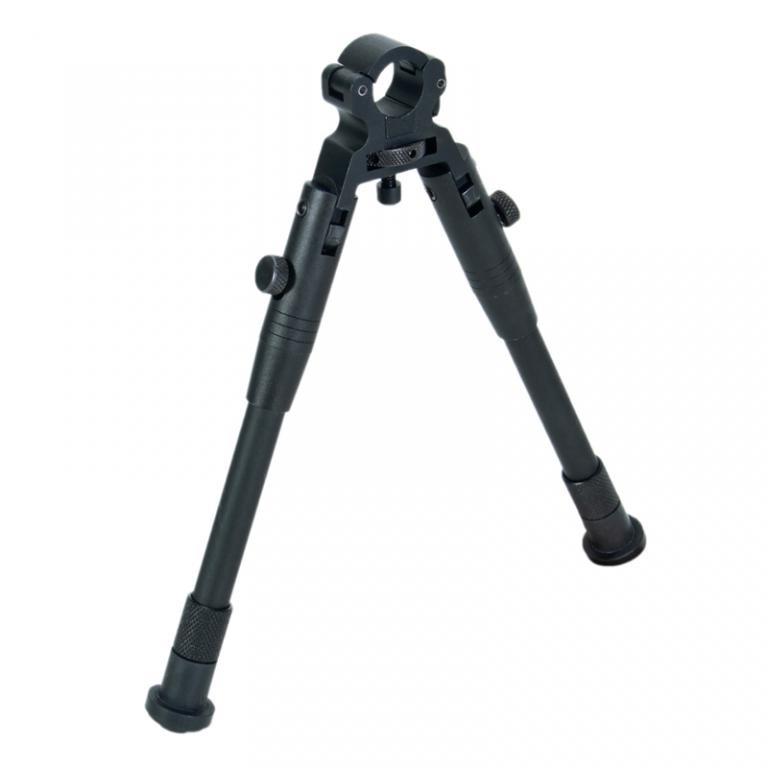 Сошки винтовочные WJ-11, крепление на ствол, материал алюминий, упоры для стрельбы, оружейные сошки