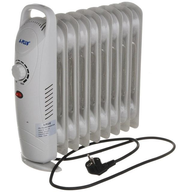 Масляный обогреватель напольный 1000W (1986) электрический
