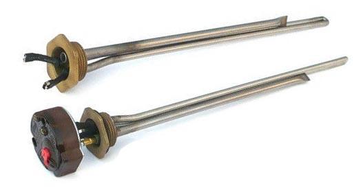 Элемент нагревательный Tenko радиаторный 1'' 1,0 кВт, L=305 мм, резьба левая