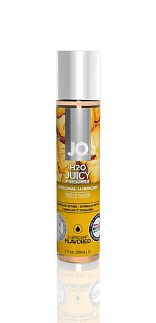 Смазка на водной основе System JO H2O - Juicy Pineapple (30 мл) без сахара, растительный глицерин, фото 2